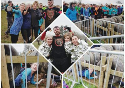 County Chiropractic massage therapist Laura when she did tough mudder in Exeter