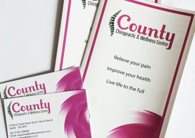 leaflet and business card using new branding